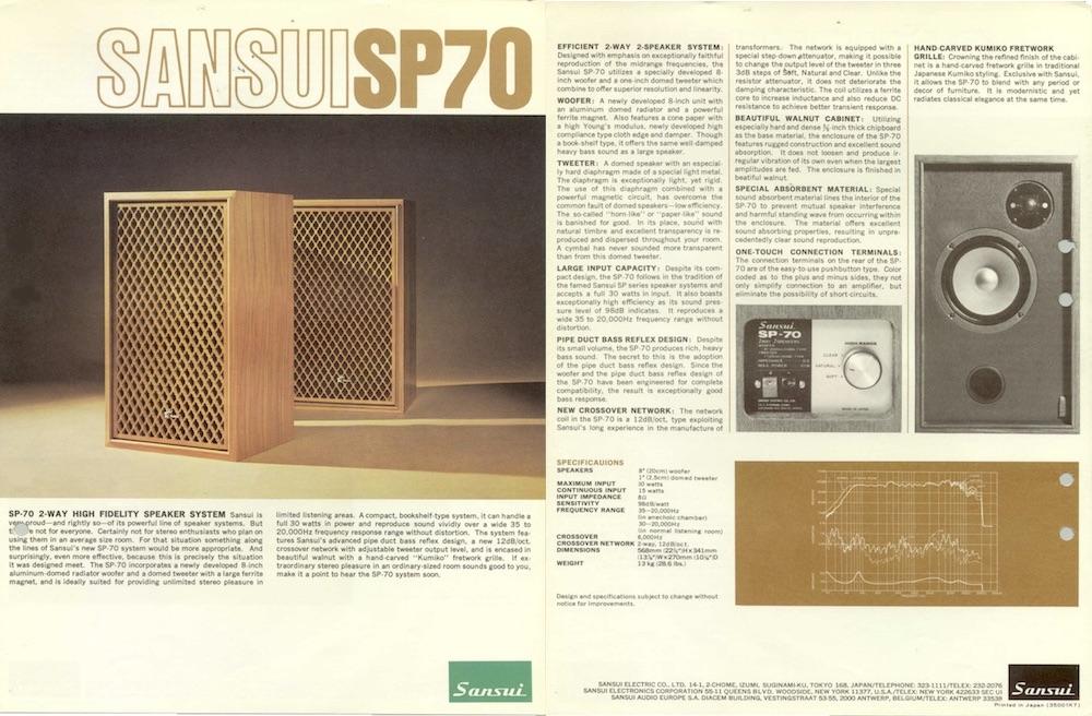 SansuiSP70s